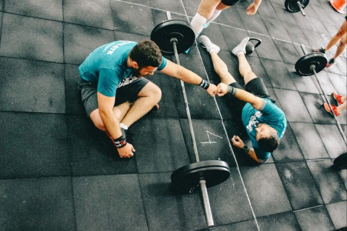 Two Men Working Out Together