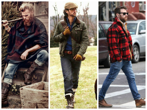 Lumbersexual clothing