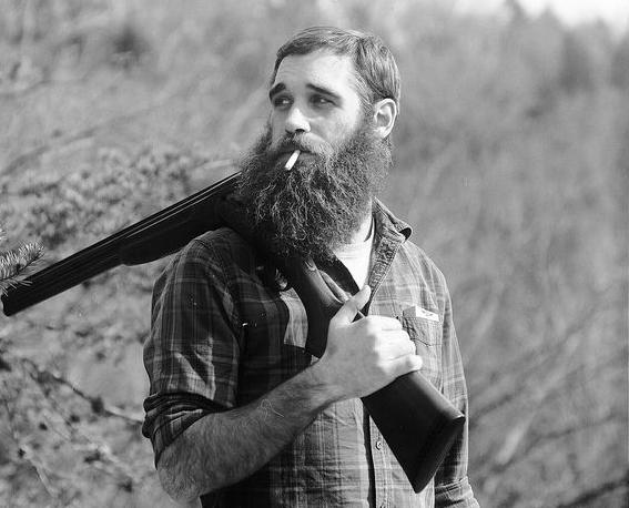Lumbersexual man