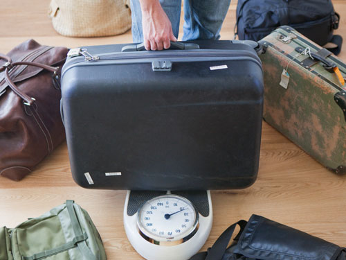 Weighing a suitcase