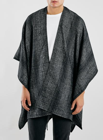 Black Herringbone Cape - £28