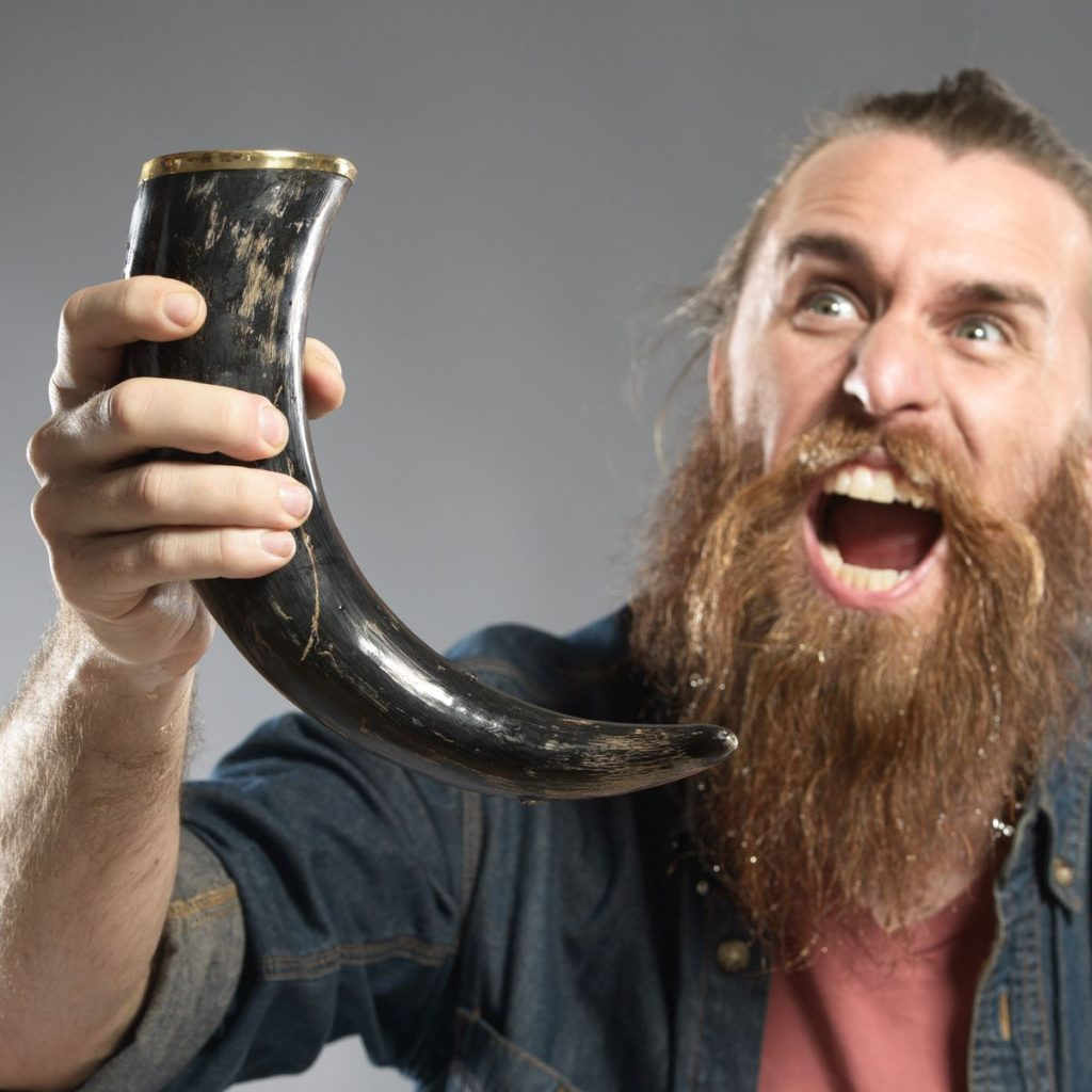 viking drinking horn