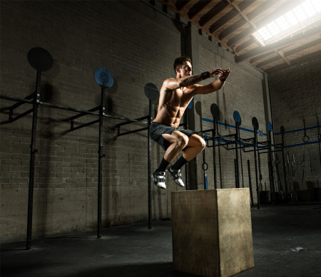 hiit - jump on a box