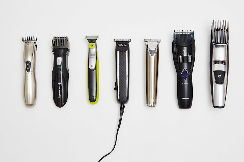 selection of beard trimmers
