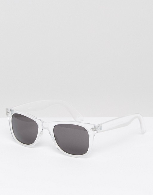 Square Sunglasses With Clear Frame