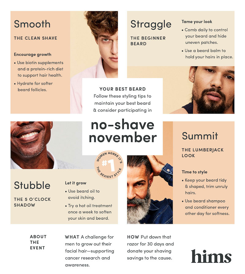 no shave november infographic