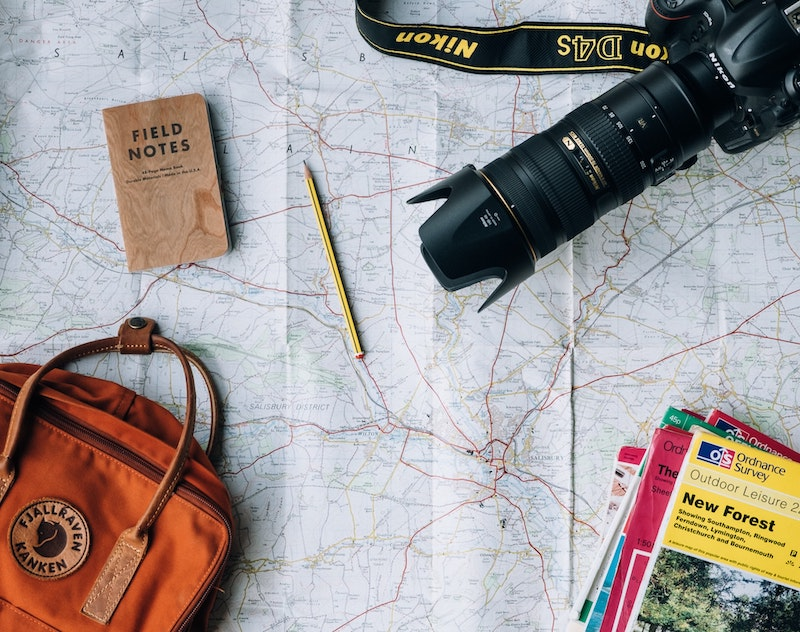 Map and travel plans