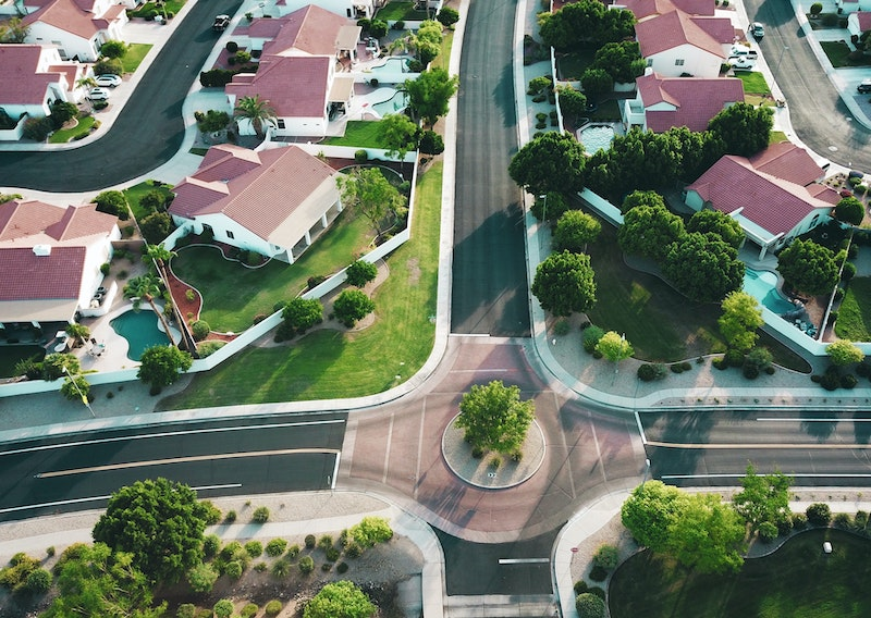 Houses, birds eye view