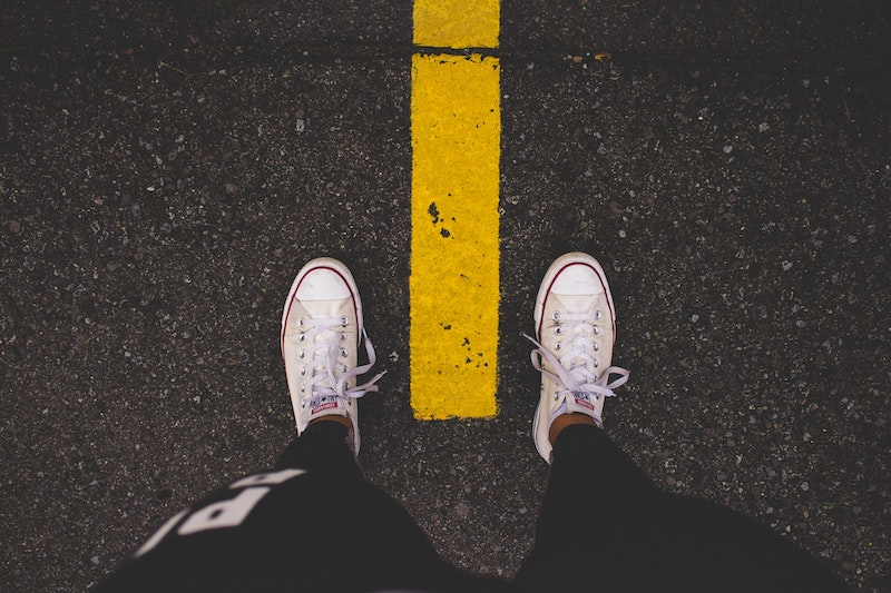 Converse shoes on feet