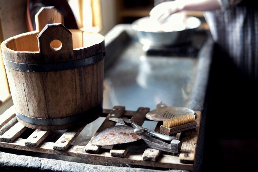 tools in a sauna