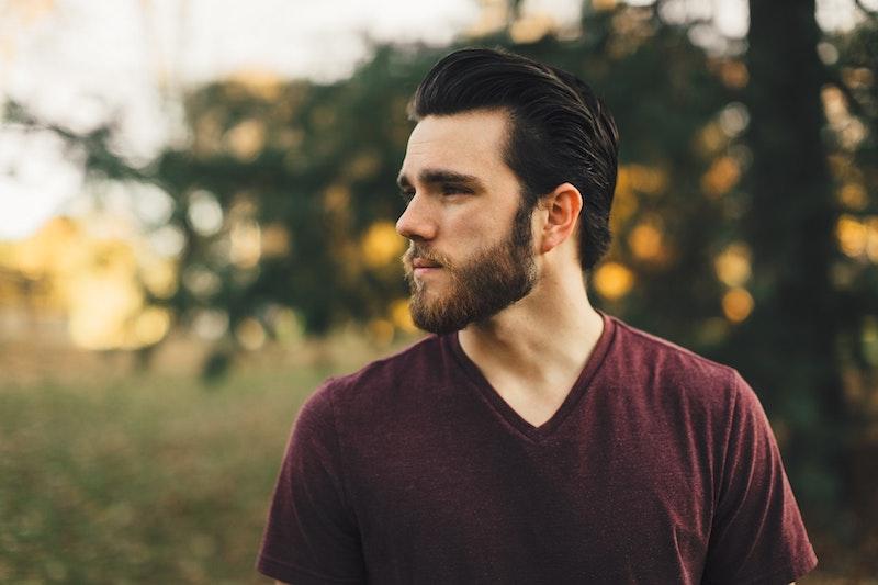 man with short hair and beard