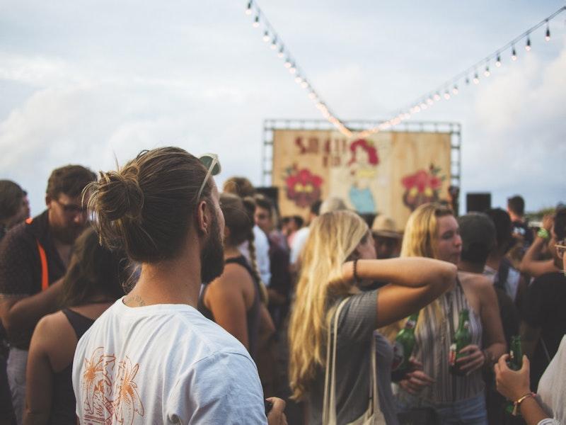 bearded man at festival