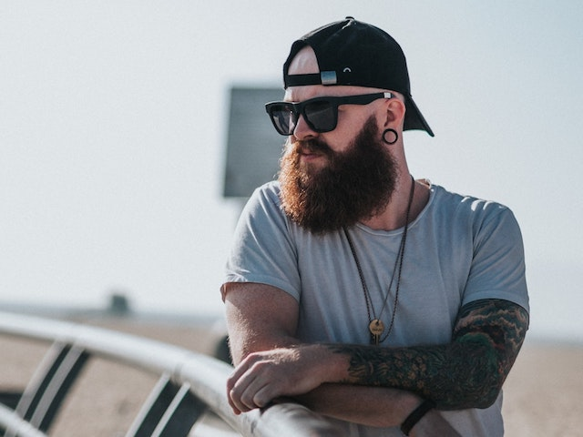 man with bushy beard