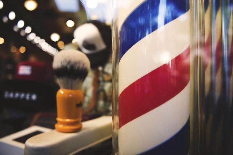 shaving brush in barbers