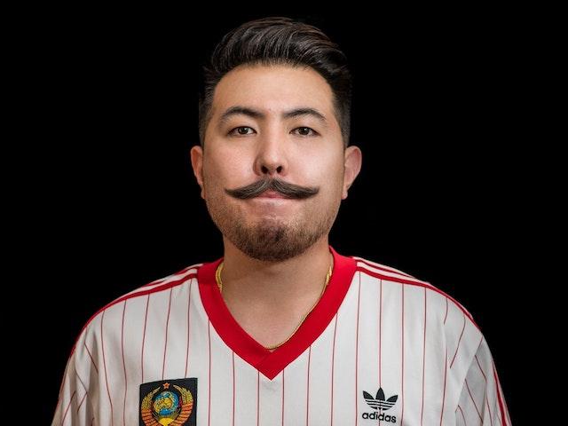 man with beardstache