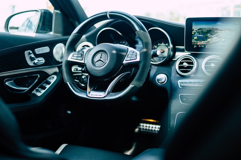 inside view of a luxury mercedes