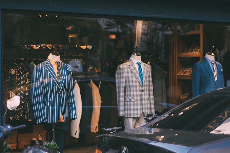 suits in shop window