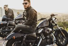 bearded men on motorbikes