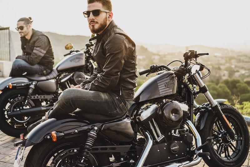 bearded men on motorbikes