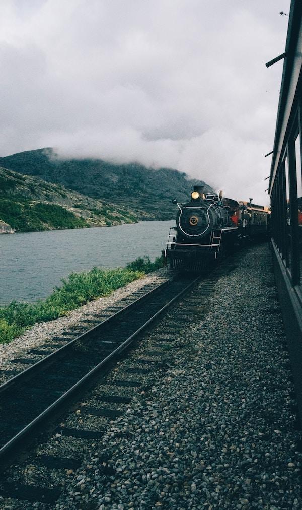 The Glacier Express train