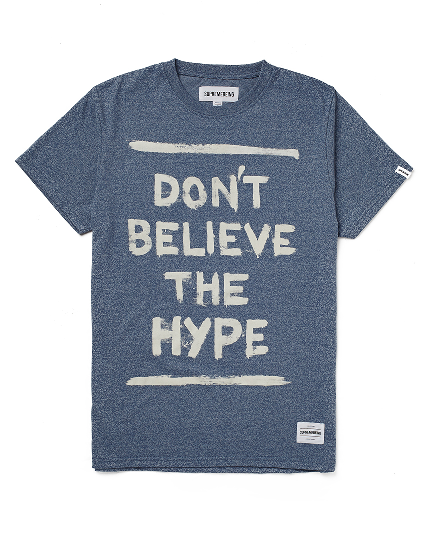 supremebeing don 39 t believe the hype t shirt thebeardmag. Black Bedroom Furniture Sets. Home Design Ideas